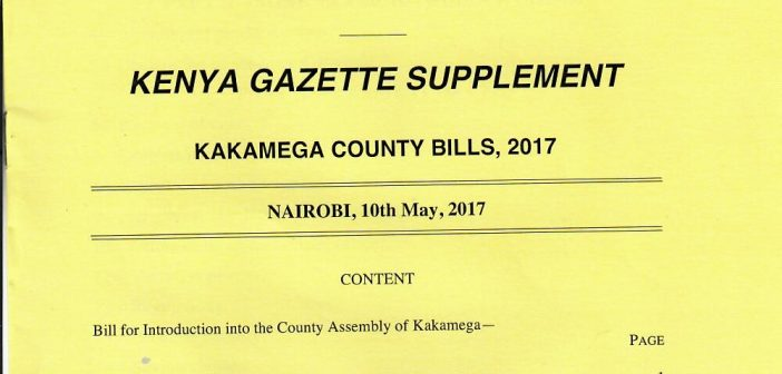 COUNTY EXECUTIVE SUBMITS SIX BILLS TO THE ASSEMBLY