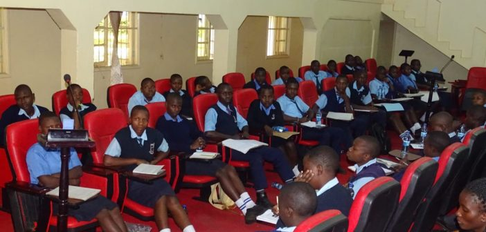 STUDENTS ON A LEARNING VISIT AT THE ASSEMBLY